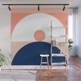 Abstraction_SUN_Mountains_Pattern_Minimalism_001 Wall Mural
