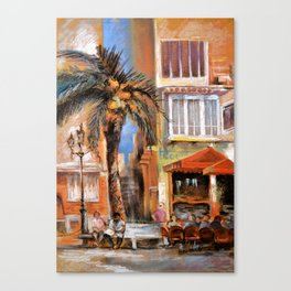 Outdoor cafes Canvas Print