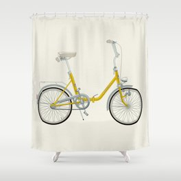 Bicycle Pony - Rog Shower Curtain