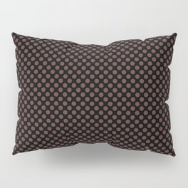 Black and Rum Raisin Polka Dots Pillow Sham