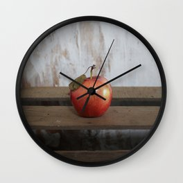 Apple on a Vintage Crate Wall Clock