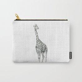 Giraffe Biro Drawing Carry-All Pouch