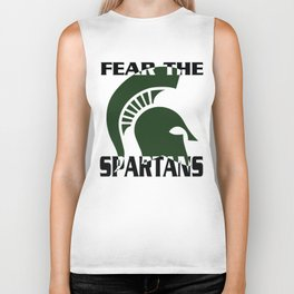 fear the spartans Biker Tank