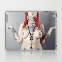 Cat Meow Tattoo Model Laptop & iPad Skin