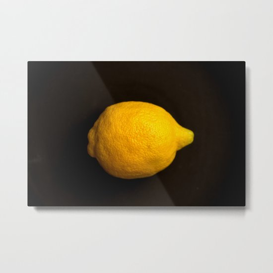 Yellow Lemon Metal Print