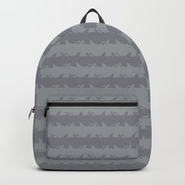 Bondi Beach Grey Hammerhead Shark Attack Beach Stripe Backpack