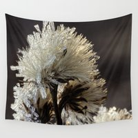 weed Wall Tapestries featuring frosty weed by Bonnie Jakobsen-Martin