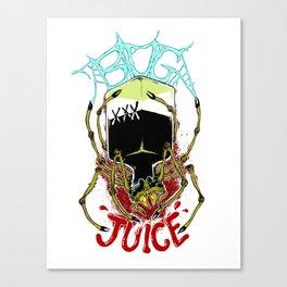 Spiders Drink Bugjuice Canvas Print