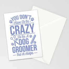 Womens Dog Groomer Gift Print Pet Grooming Pet Dog Lover Print Stationery Cards