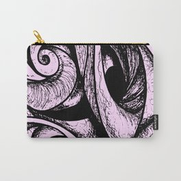 Swirl (black and pink) Carry-All Pouch