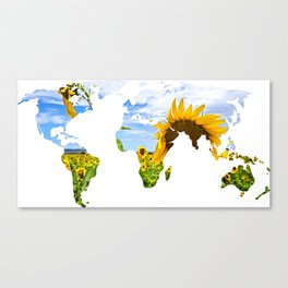 World of Sunflowers Canvas Print