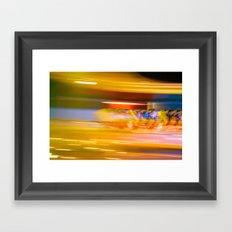 Night Light 131 - Roller Coaster Framed Art Print