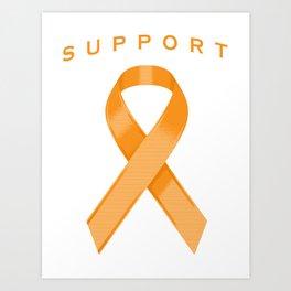 Orange Awareness Ribbon Art Print
