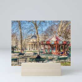 Parc Monceau panorama in winter - Paris Mini Art Print