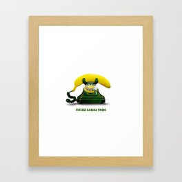 ORGANIC INVENTIONS SERIES: Vintage Banana Phone Framed Art Print