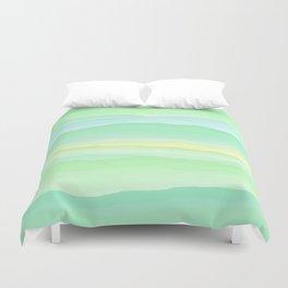 Mint Aqua Rolling Hills Duvet Cover