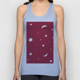Starry Night #1 #red #white #decor #art #society6 Unisex Tank Top