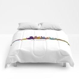 Los Angeles City Skyline HQ v1 Comforters