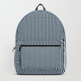 Silent Night Blue Mini Gingham Check Plaid Backpack