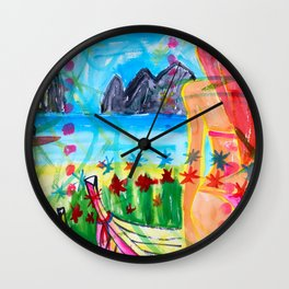 Koh pipi island in Thailand Wall Clock