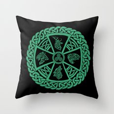 Celtic Nature Throw Pillow