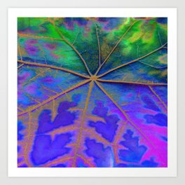 Leaf Incredible, Turquoise Art Print