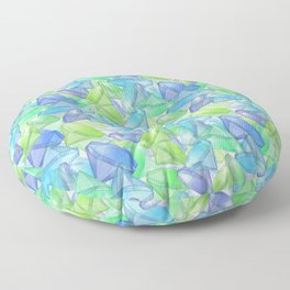 Placer precious stones, yellow , green , blue . Floor Pillow