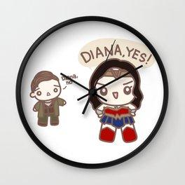 Diana No Diana YES Wall Clock