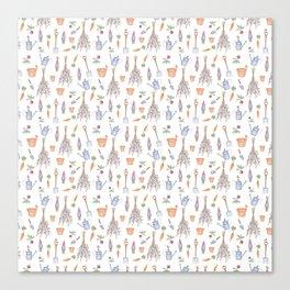 Gardener's Pattern Canvas Print