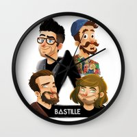 bastille Wall Clocks featuring Bastille  by Murray