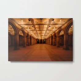 Bethesda Terrace in Central Park Metal Print
