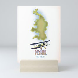 Bryher isles of scilly Map Mini Art Print