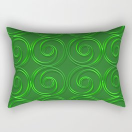 Abstract circles green illustration. Rectangular Pillow