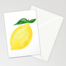 Squeeze the day lemon art Stationery Cards