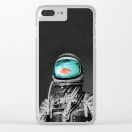 fish in astro helm Clear iPhone Case