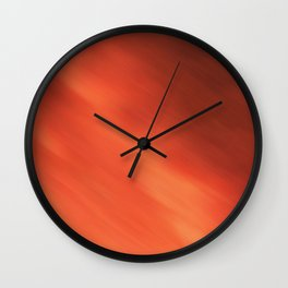 Abstraction . Orange-brown blurred background . Wall Clock