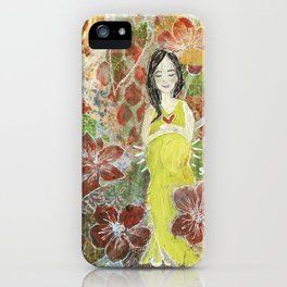 She Blooms iPhone Case