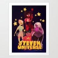 steven universe Art Prints featuring Steven Universe by Jimmy Martínez