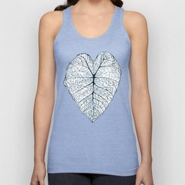 Blue Alocasia Botanical Unisex Tank Top