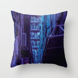 Tokyo Nights / Shadow of The Day / Liam Wong Throw Pillow