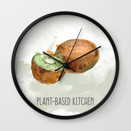 Plant-Based Kitchen Kiwi Wall Clock