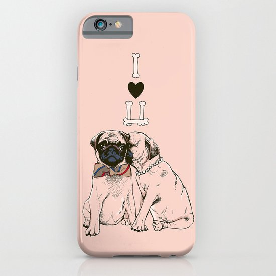 The Love of Pug iPhone & iPod Case
