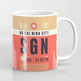 Baggage Tag A - SGN Ho Chi Minh City Vietnam Coffee Mug