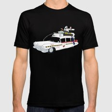 Ecto-1A SMALL Black Mens Fitted Tee