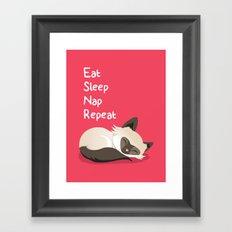 Cat's Life Framed Art Print
