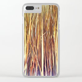 434 - Abstract grass design Clear iPhone Case