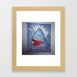 Sharks Are People, Too  Framed Art Print
