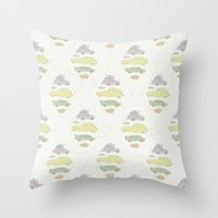 cars Throw Pillows featuring Cars by Lena P Illustration