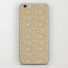 Gold & White Christmas Snowflakes iPhone Skin