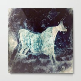 Lascaux Cave Bull II Metal Print